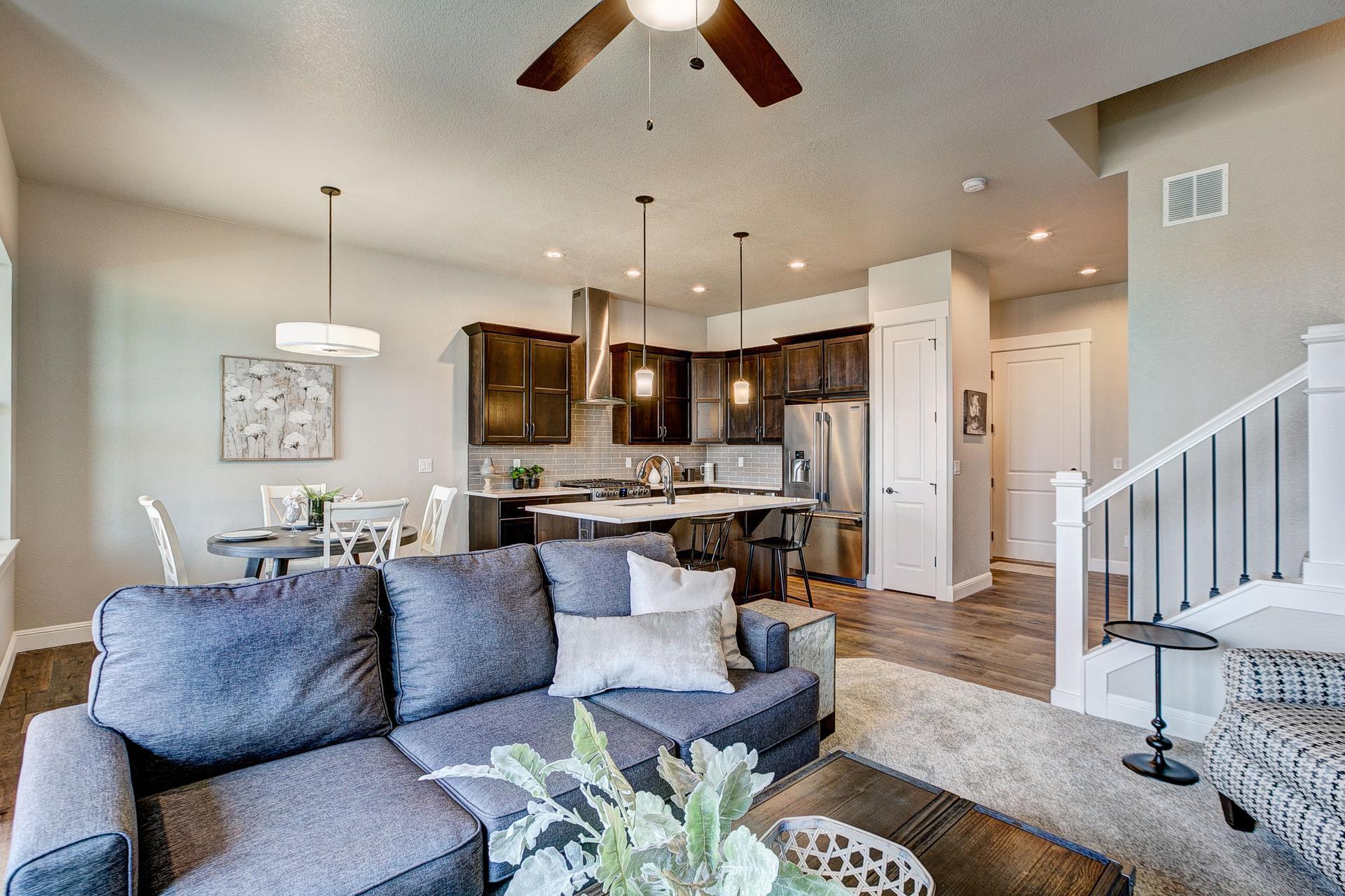 Living Room. Windsor, CO New Home