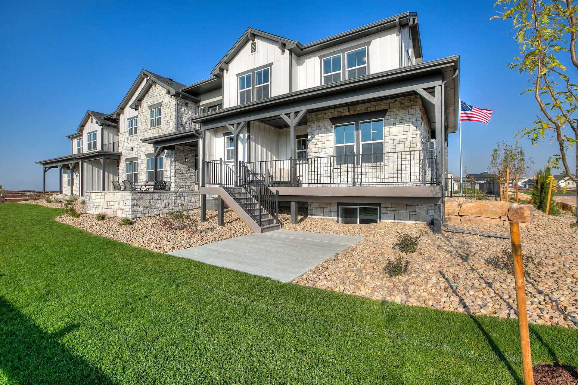 Exterior. Harmony Townhomes New Homes in Timnath, CO