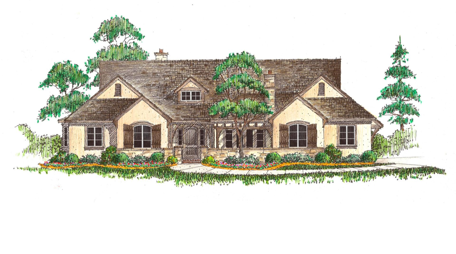Ravenna French Country. 3,175sf New Home