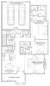 Main Level. 3br New Home in Windsor, CO