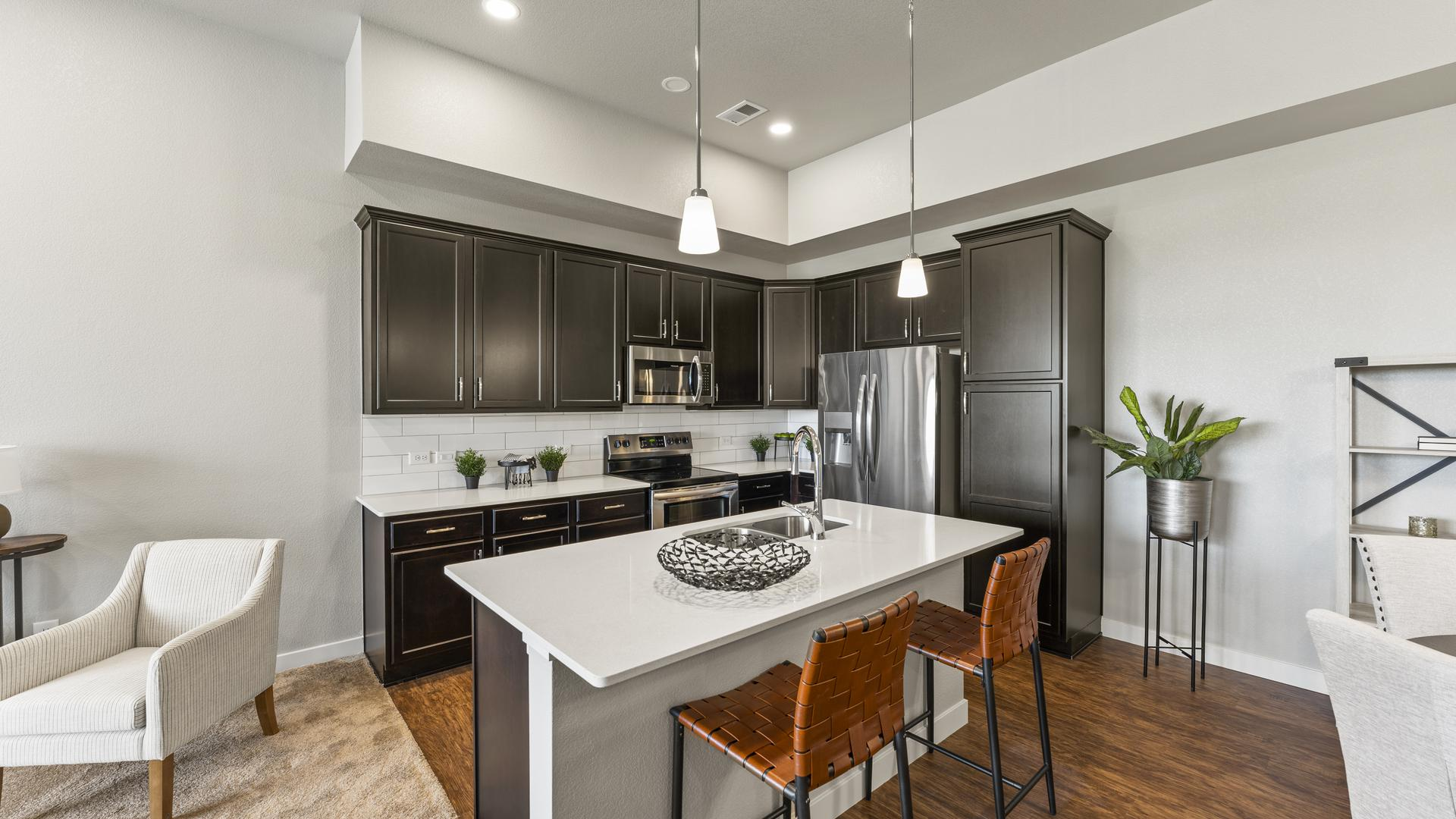 Kitchen - Not Actual Home - Finishes Will Vary . Monarch New Home Floor Plan
