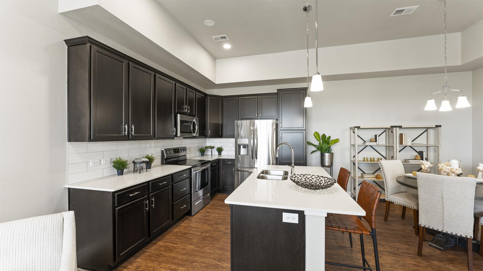 Kitchen - Not Actual Home - Finishes Will Vary . Monarch Home with 3 Bedrooms