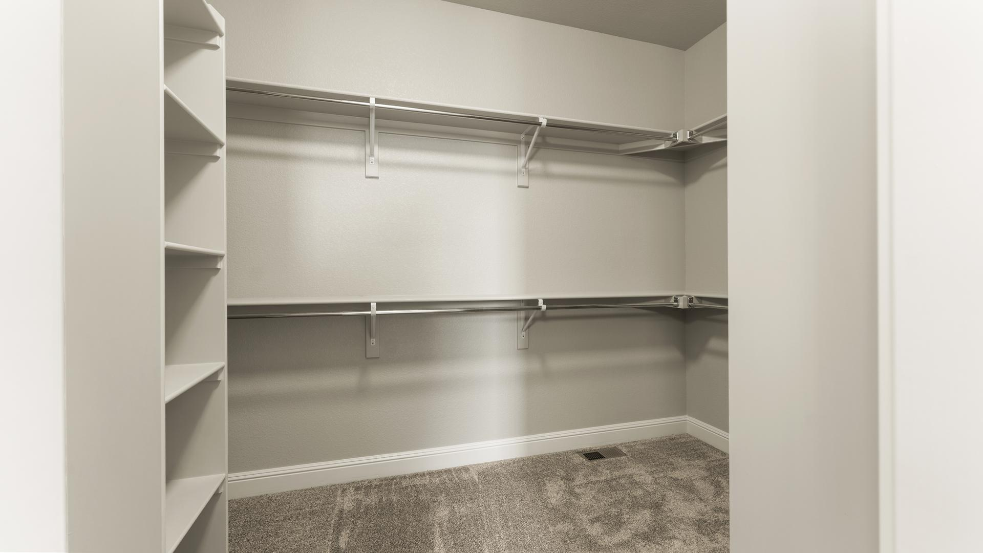Master Closet - Not Actual Home - Finishes Will Vary