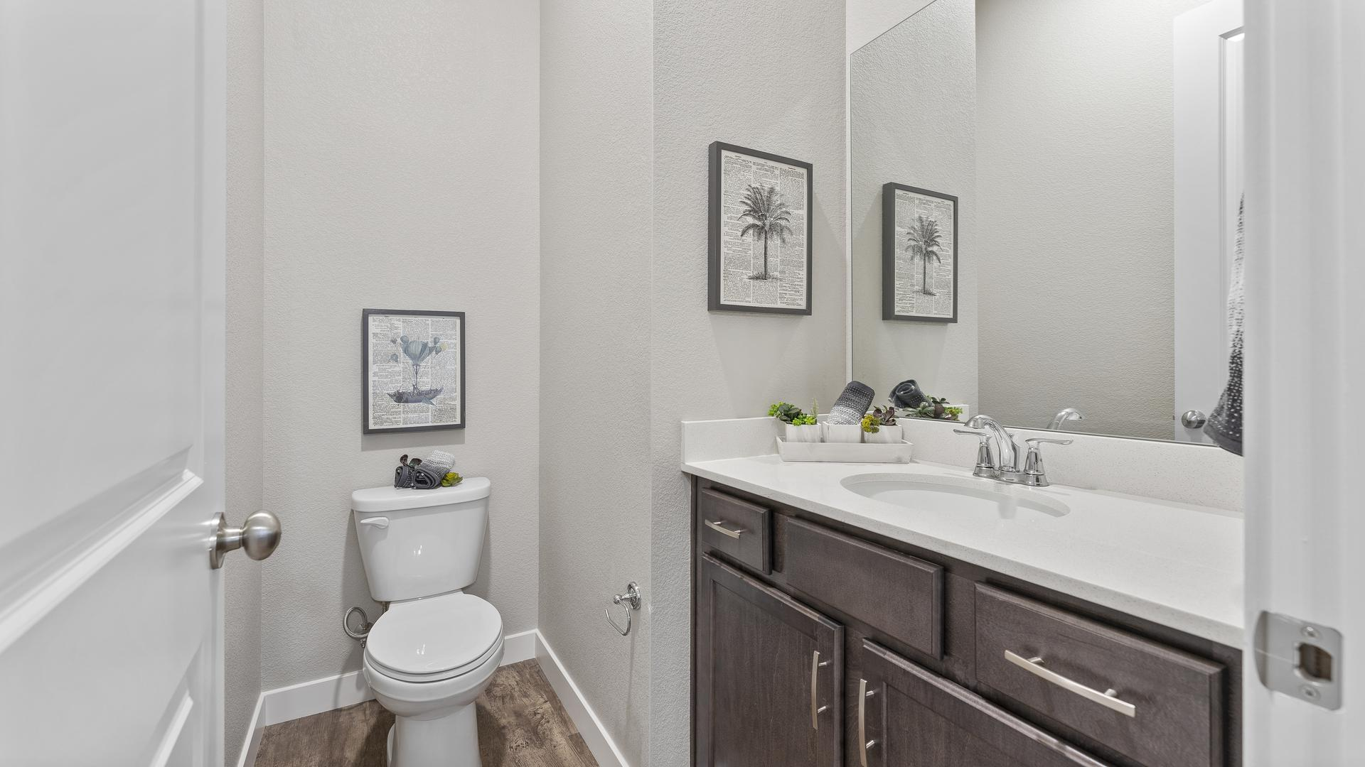 Powder Bath  - Not Actual Home - Finishes Will Vary