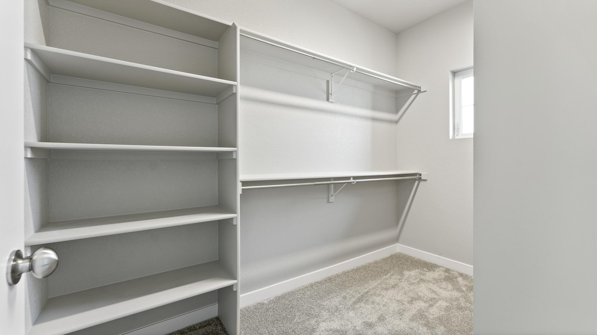 Bedroom 2 Closet  - Not Actual Home - Finishes Will Vary