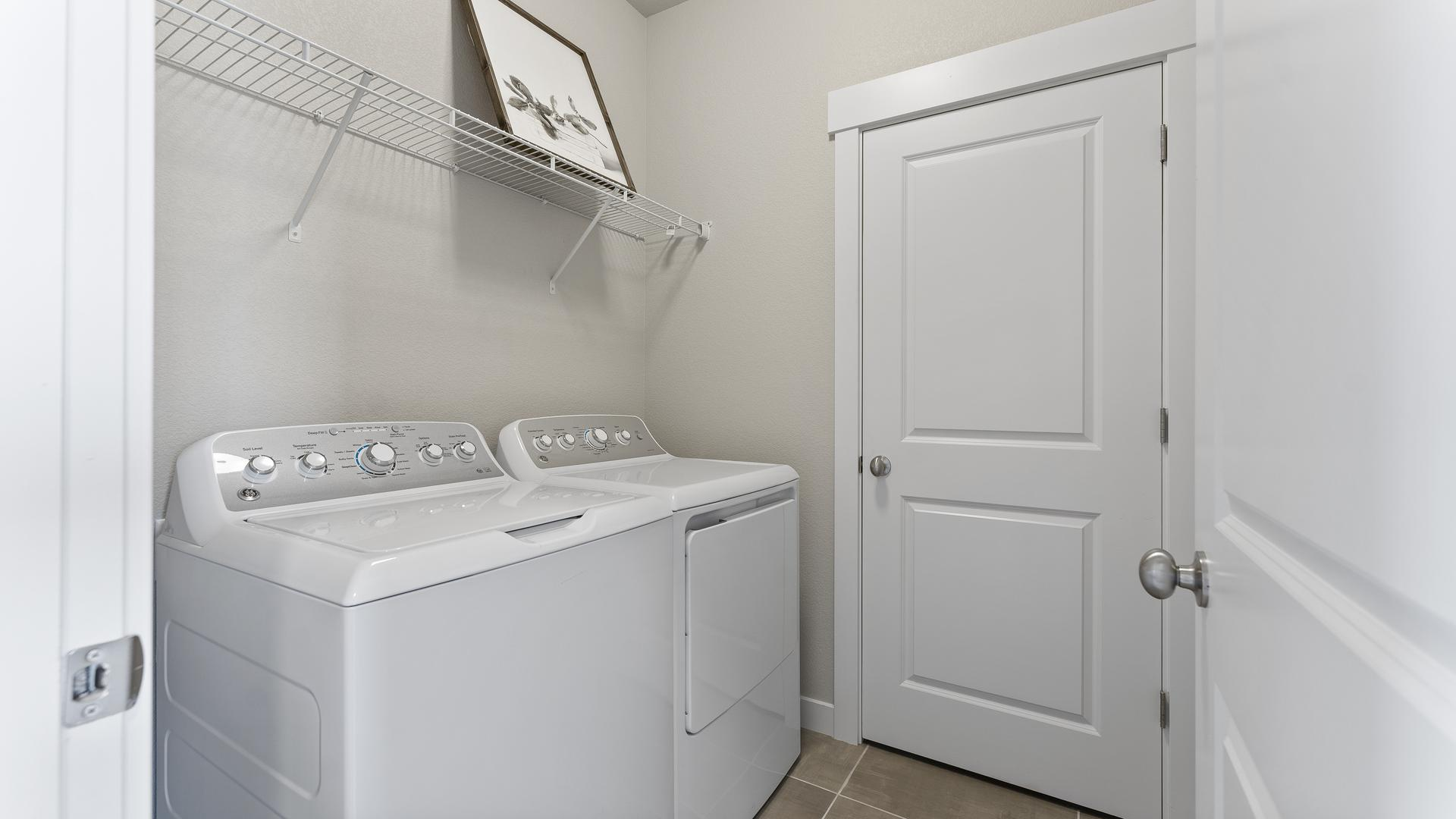 Laundry Room  - Not Actual Home - Finishes Will Vary