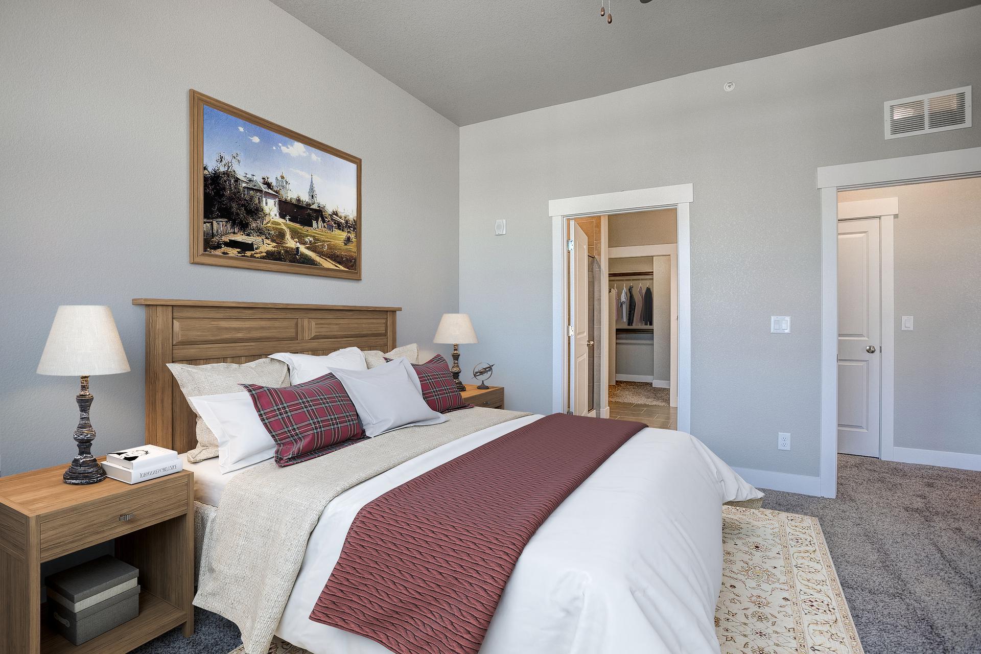 Master Bedroom -  Previous Cambridge Floor Plan. 1,435sf New Home
