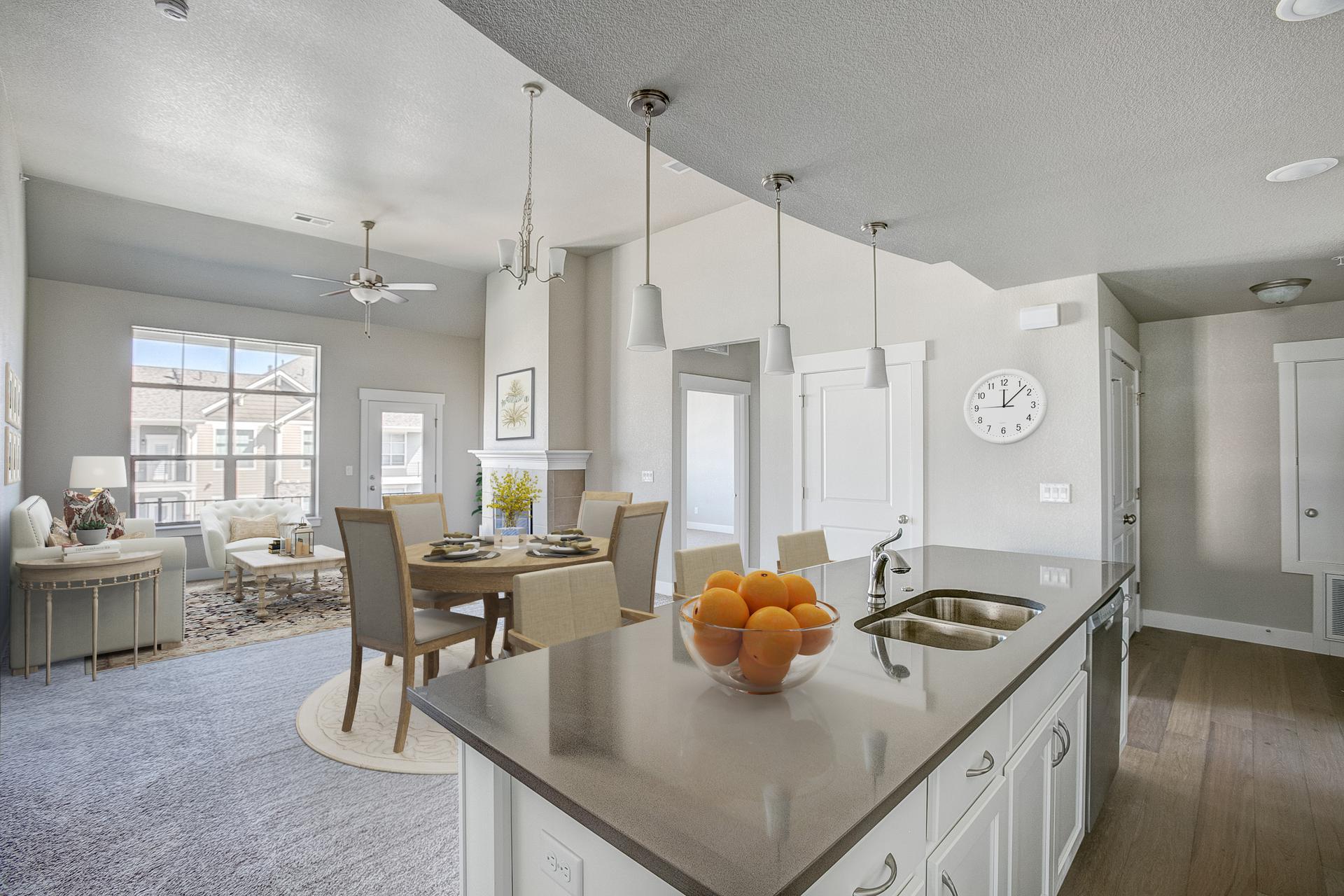 Kitchen -  Previous Cambridge Floor Plan. 1,435sf New Home