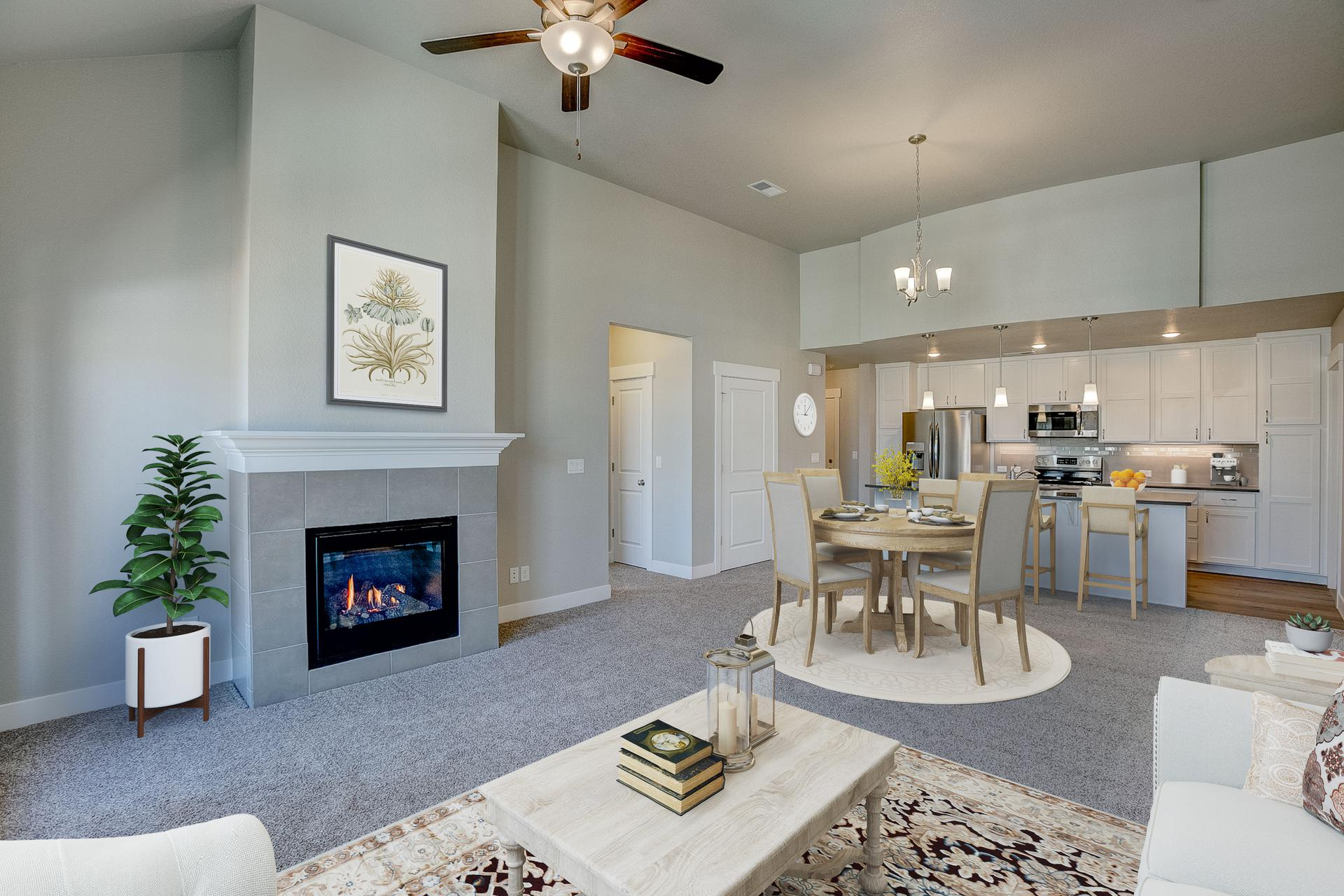 Living Room -  Previous Cambridge Floor Plan. Cambridge 2 New Home Floor Plan