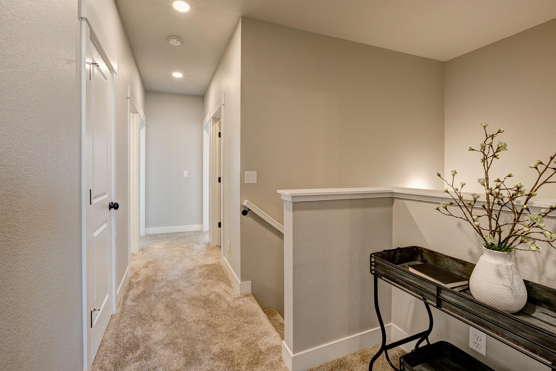 Upstairs Hallway - Not Actual Home - Finishes Will Vary